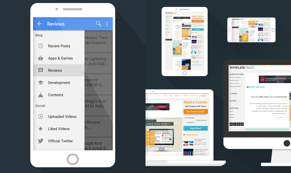 Design an iPhone application for your website or blog