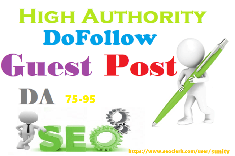 Write Publish 10 X High Authority Guest Post DA 93-45 Not PBN,  From Real Sites