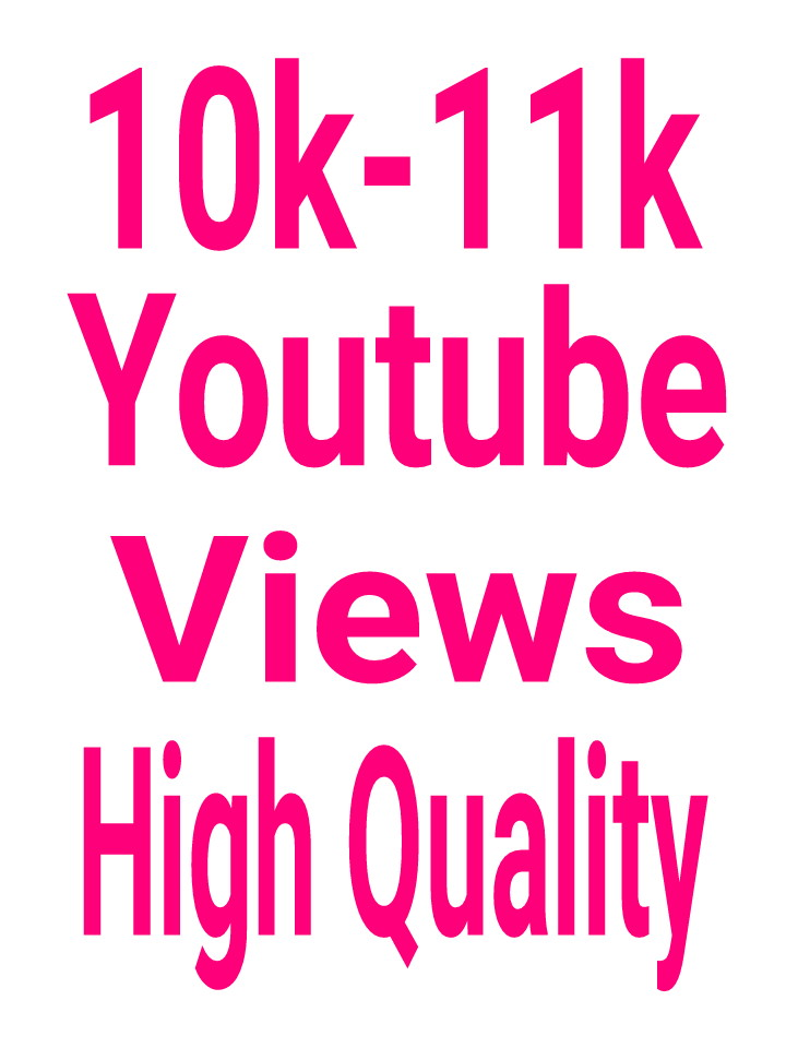 "High Quality 10000-11000 You ""tube Vi""ews nondrop and permanent  lifetime guaranteed"