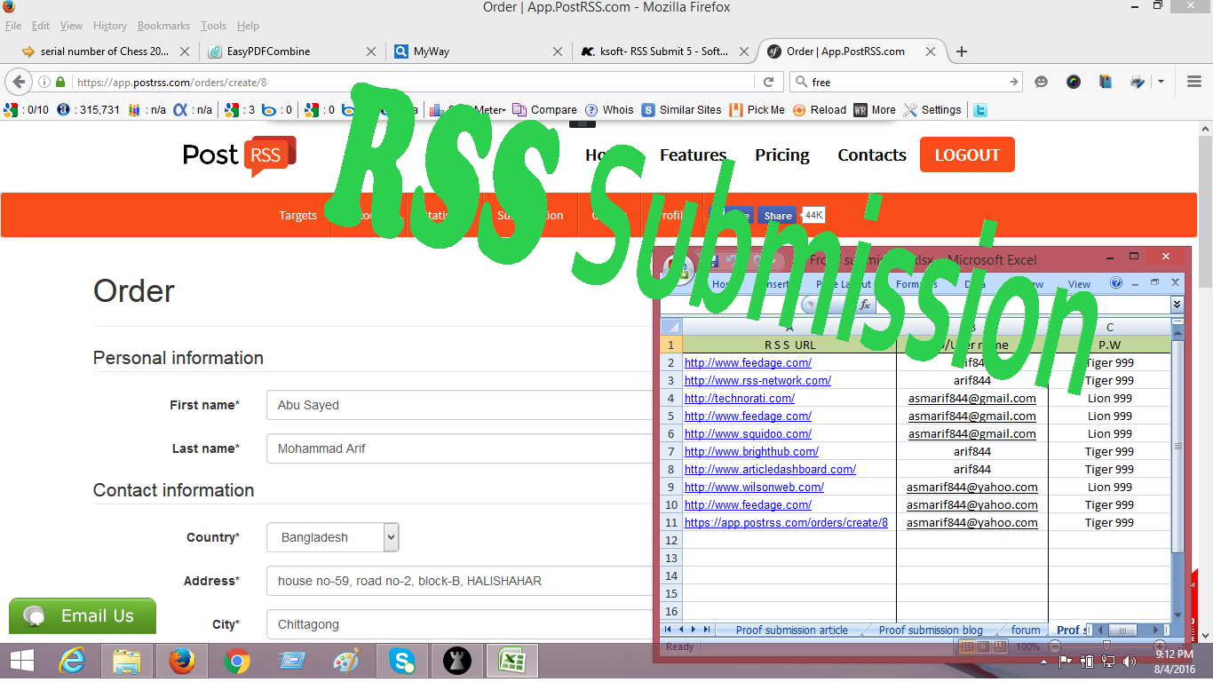R S S Submission for boosting your site with farely