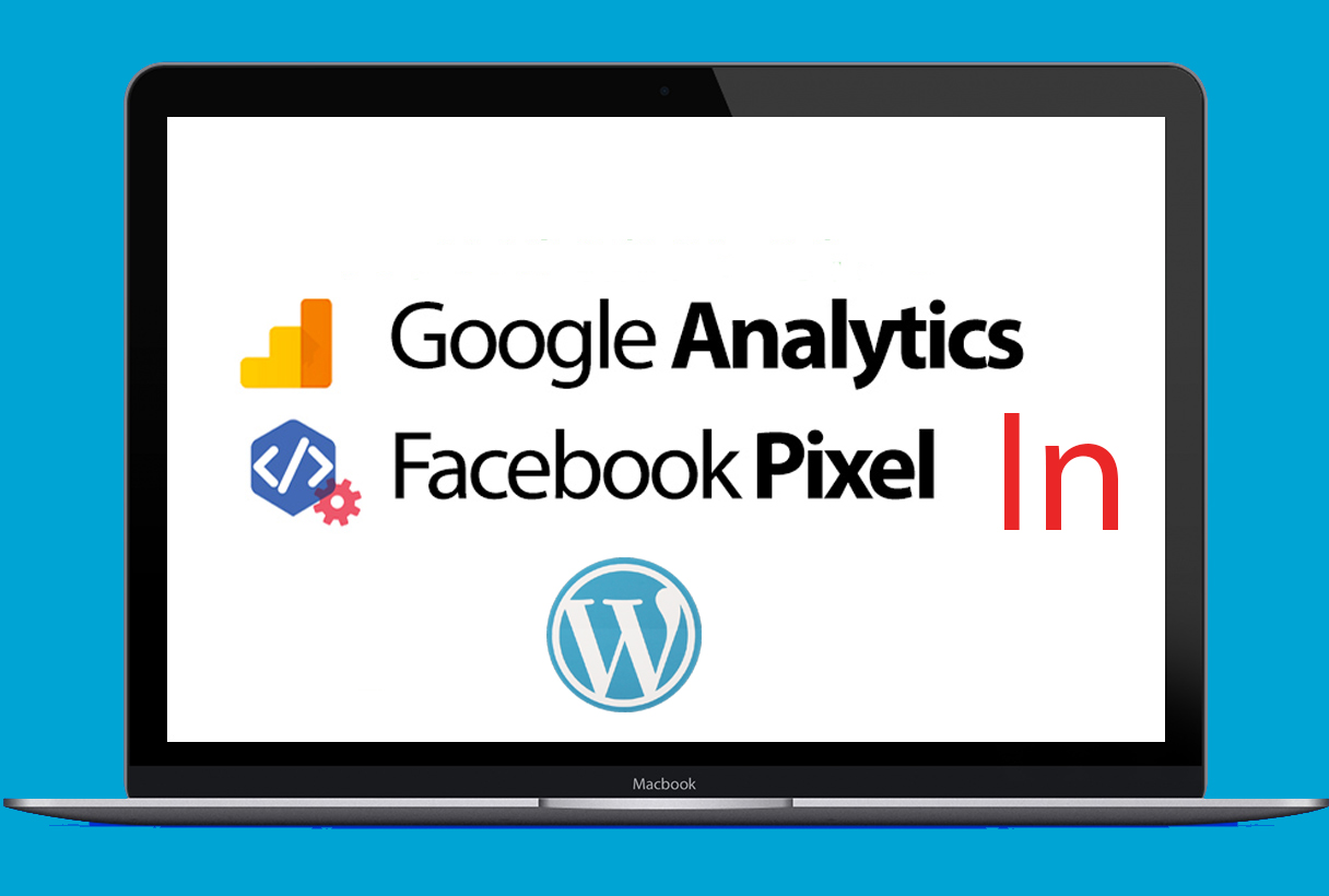 setup facebook pixel & google analytics in wordpress