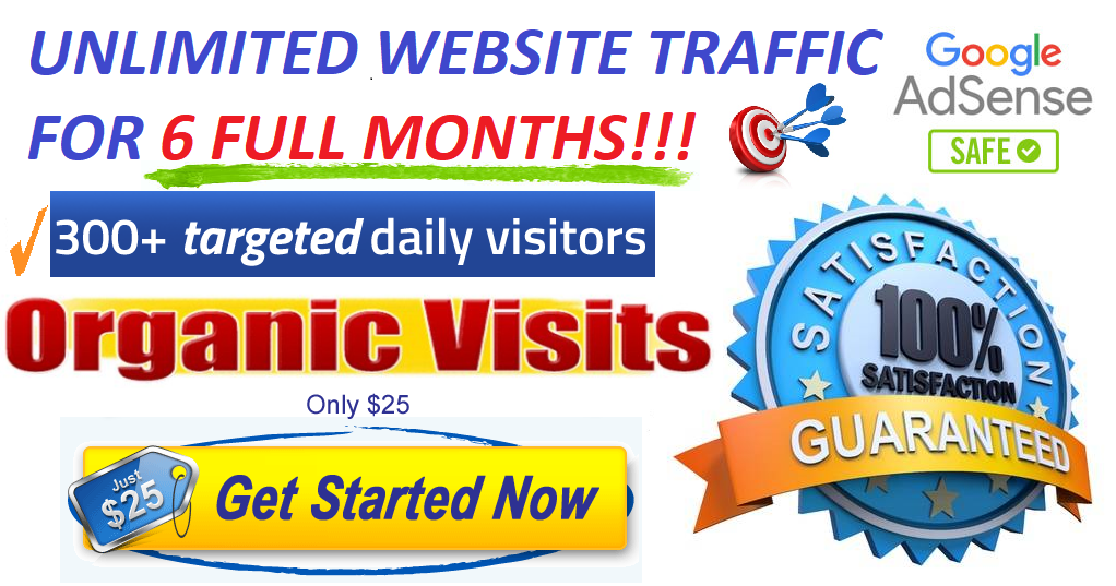 UNLIMITED genuine real Website TRAFFIC for 6 months for