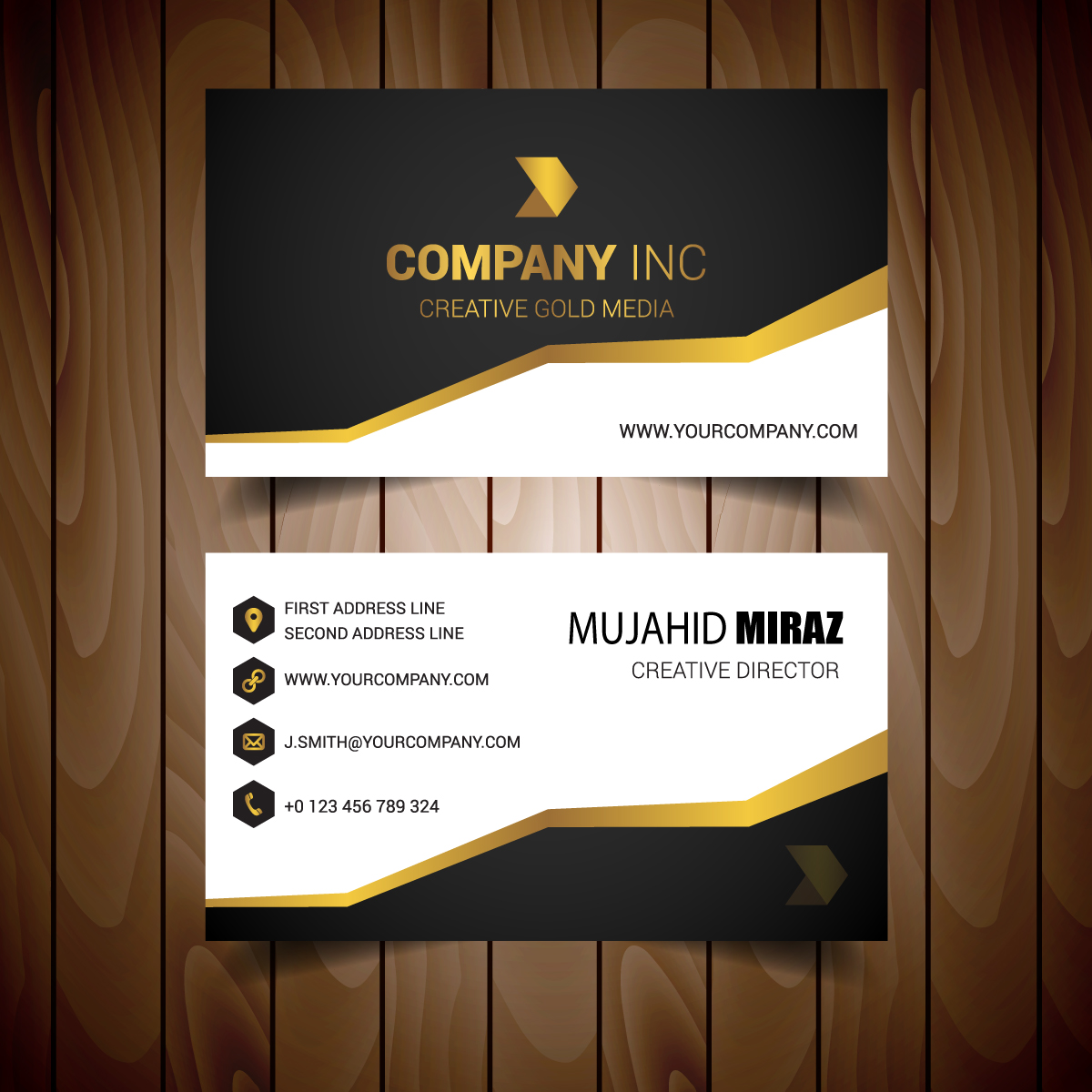 I can create an outstanding two sided business card within 24 hours