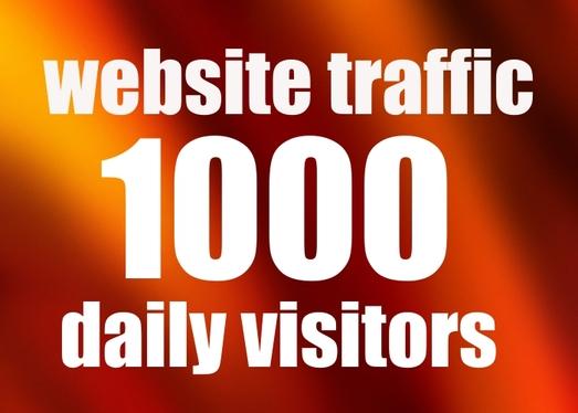 1000+ daily website traffic