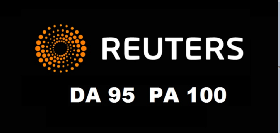 Press Release on Reuters. com DA 95,  Dofollow