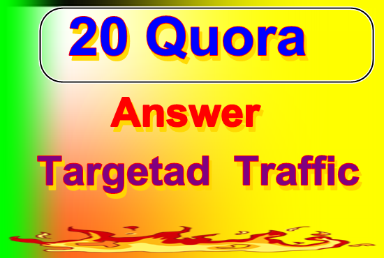 provide organic traffic 10 quora answers