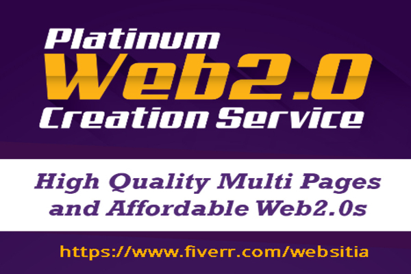 Provide High Quality Multi Pages And Affortable WEB 2.0