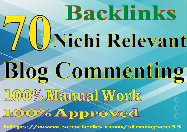 I will provide 70 niche relevant quality backlinks