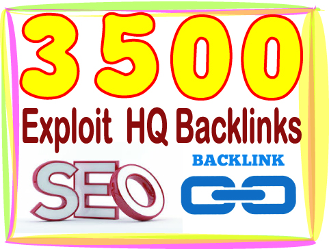 Build 3500 HQ PR Panda safe Contextual & Unique Exploit backlinks