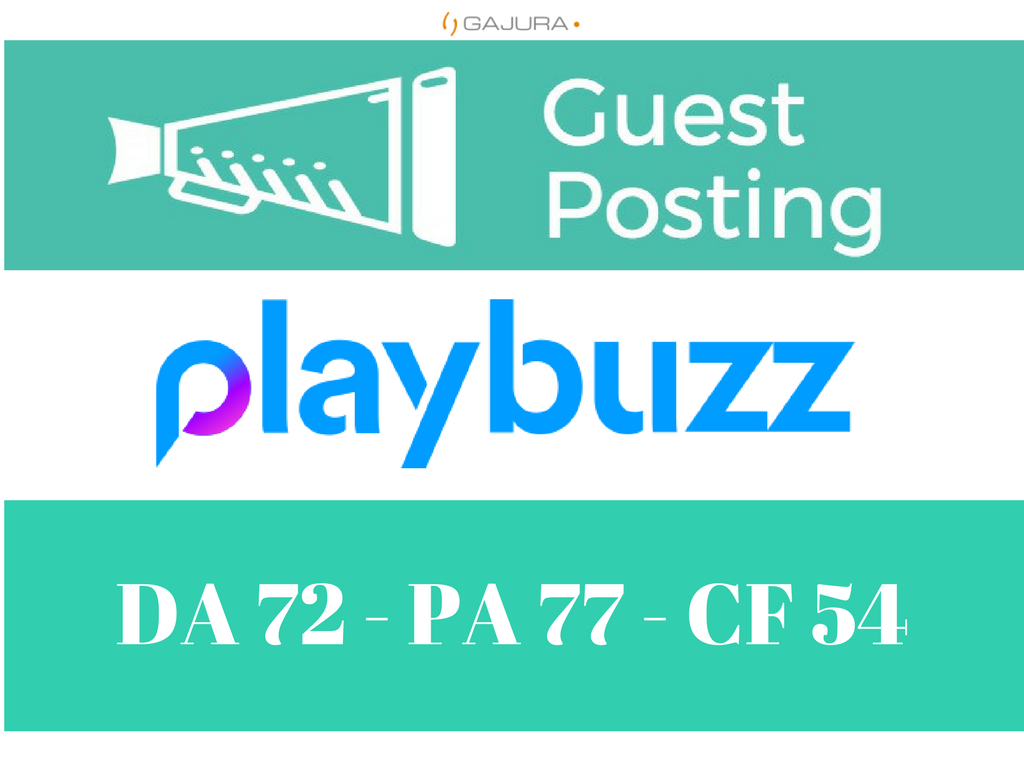 Write And Publish A Guest Post On Playbuzz Playbuzz.com DA 64