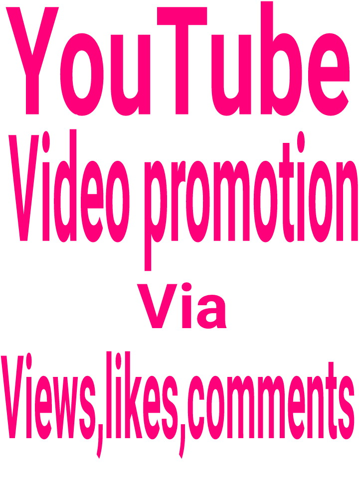 YouTube video promotion via real user active and permanent with fastest delivery