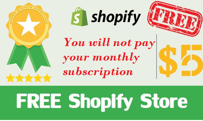 Create a professional online shop on Shopify You will not pay your monthly subscription