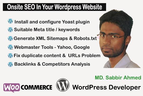 Onsite SEO In Your Wordpress Website