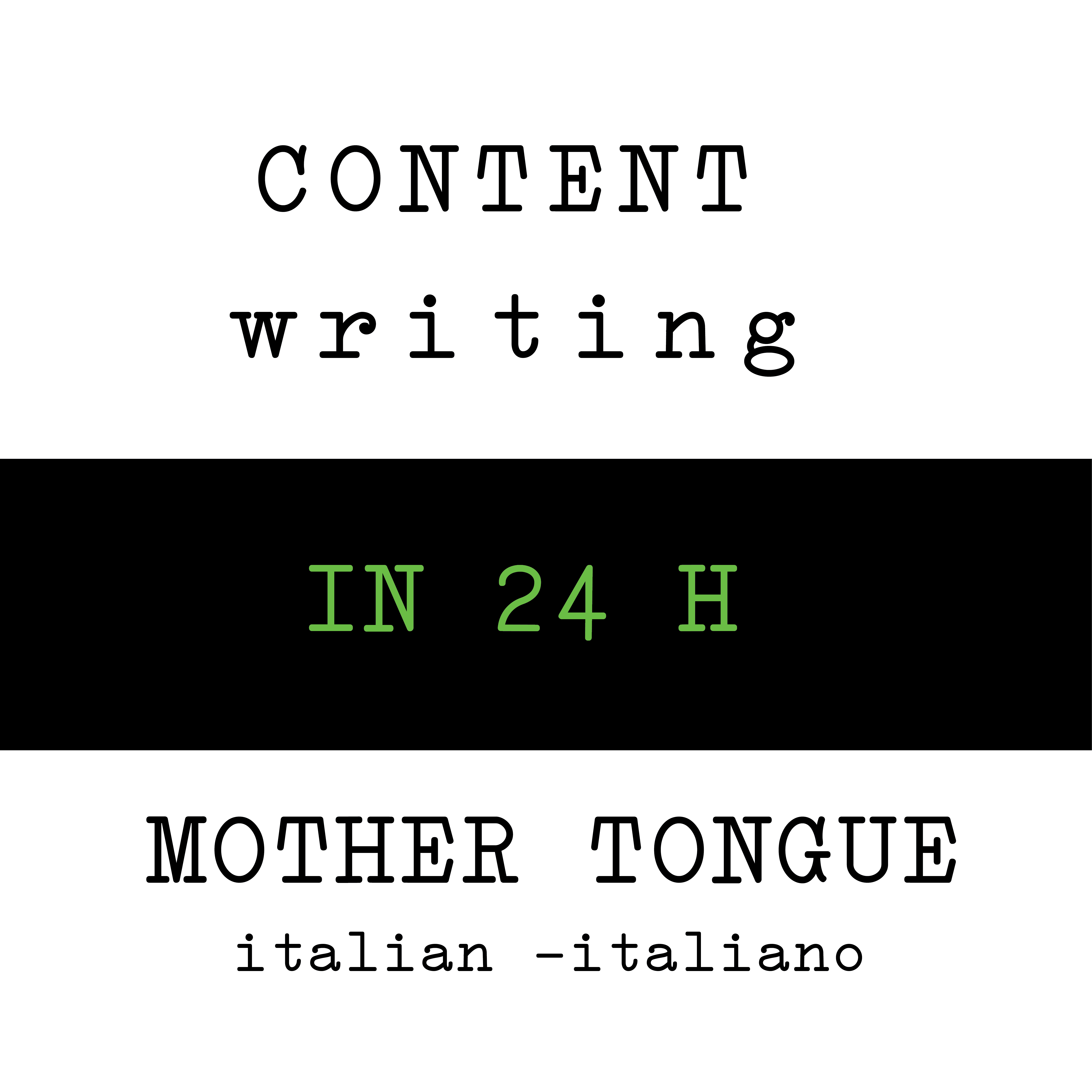 Italian Writing Content for web social blog in 24h