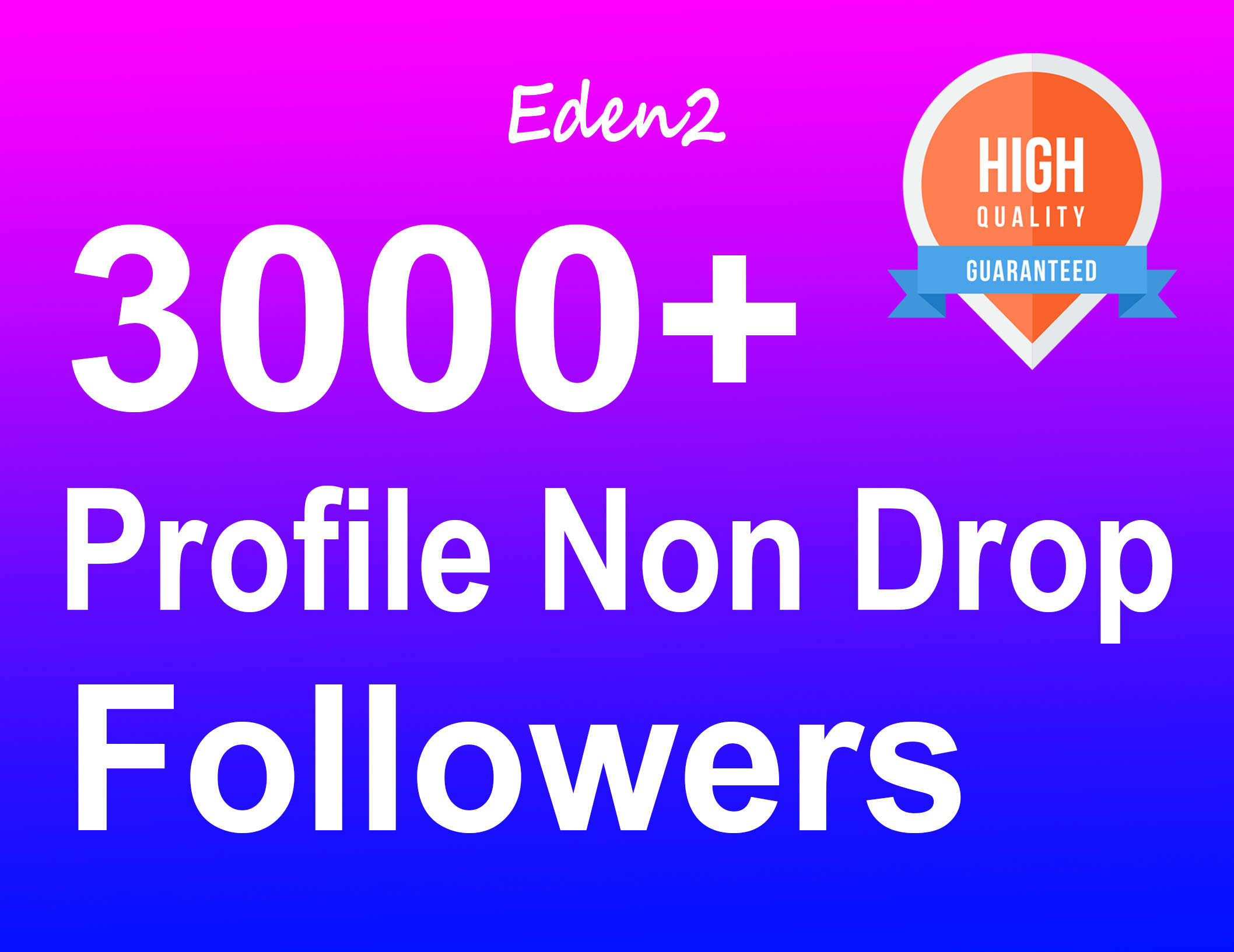 Add 3000+ Profile Followers Real High Quality & Non Drop