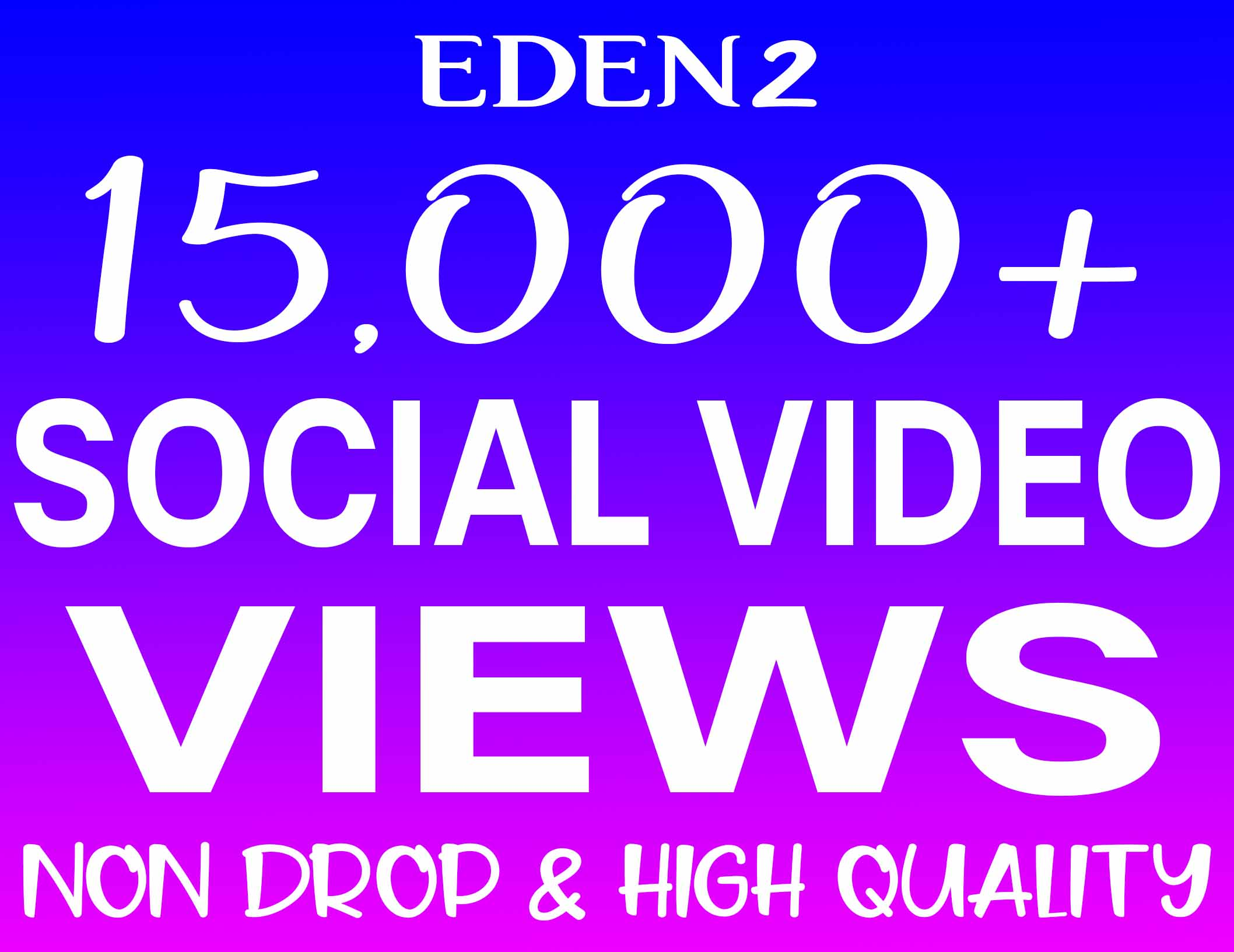 Add 15K Social Video Views Non Drop & High Quality - INSTANT START
