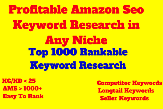 Do Profitable Seo Amazon Keyword Research in Any Niche