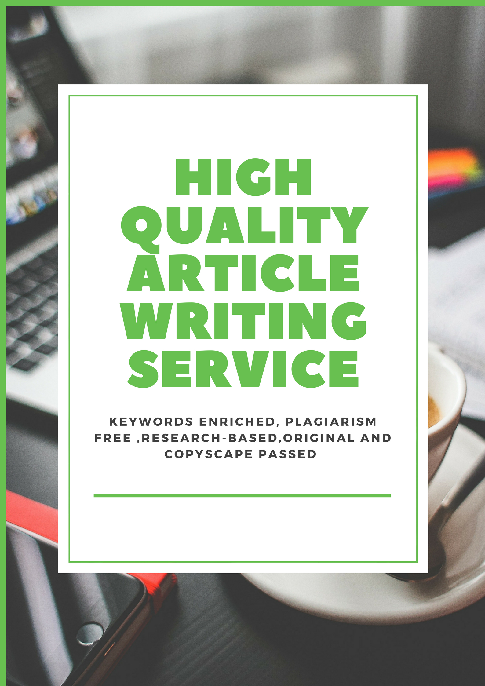 SEO Optimized 600 Words Article Writing Service