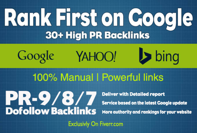 make 300 SEO high quality premium backlinks rank on search result