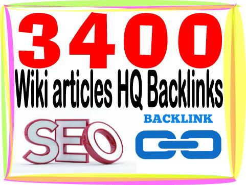 add you 3400 HQ PR Panda safe Wiki articles backlinks