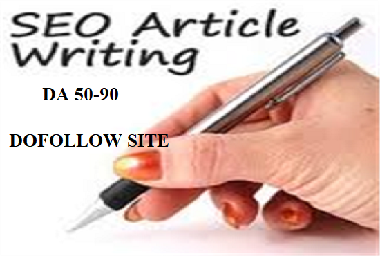 Write And Publish High Authority Guest Post  On 10x Dofollow Site DA 50 - 90