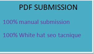 I will manually do pdf submission to top 20 doc sharing sites