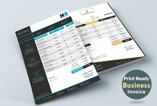 modern business invoice ms excel word google docs for you for 10