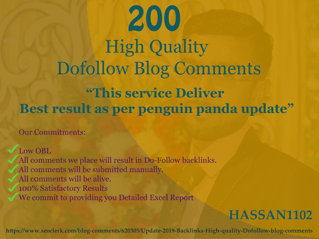 High quality Dofollow blog comments DA 60 to 20 low obl Pages quickly Rank in google