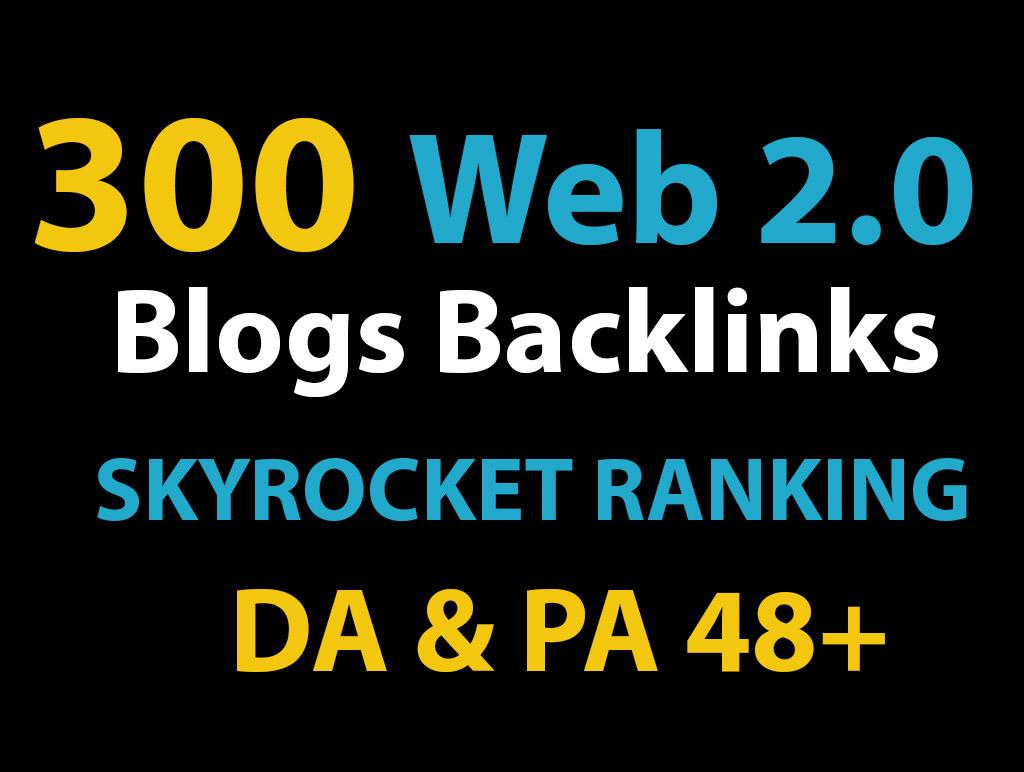 3200 Web 2.0 Do follow TA DA 80+ PR1-PR9 Power booster backlinks