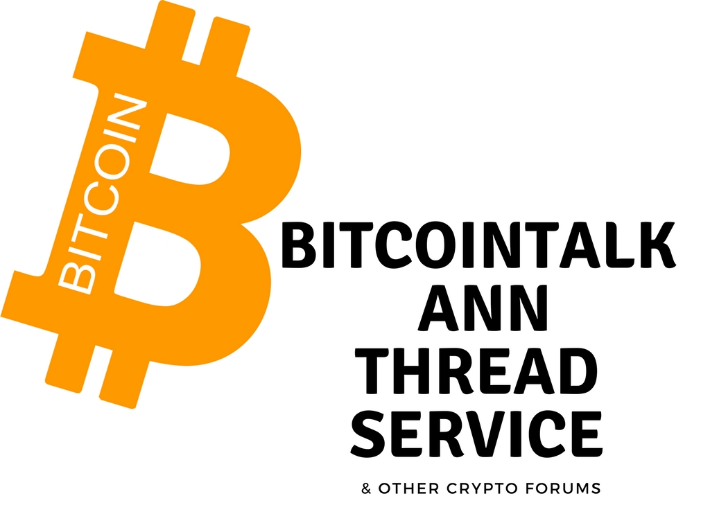 create and market bounty thread for your blockchain