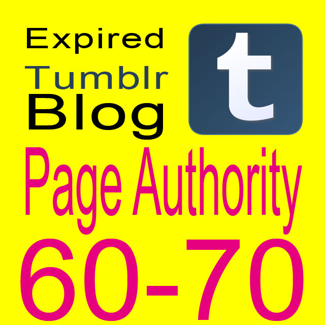 Get 5 Expired Tumblr registered PA 60-70
