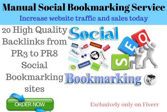 Do 20 High PR Social Bookmarking Manually Pr2 to Pr9