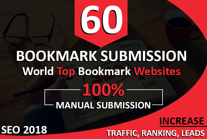 60 Bookmark Submission Manually On High PR Sites