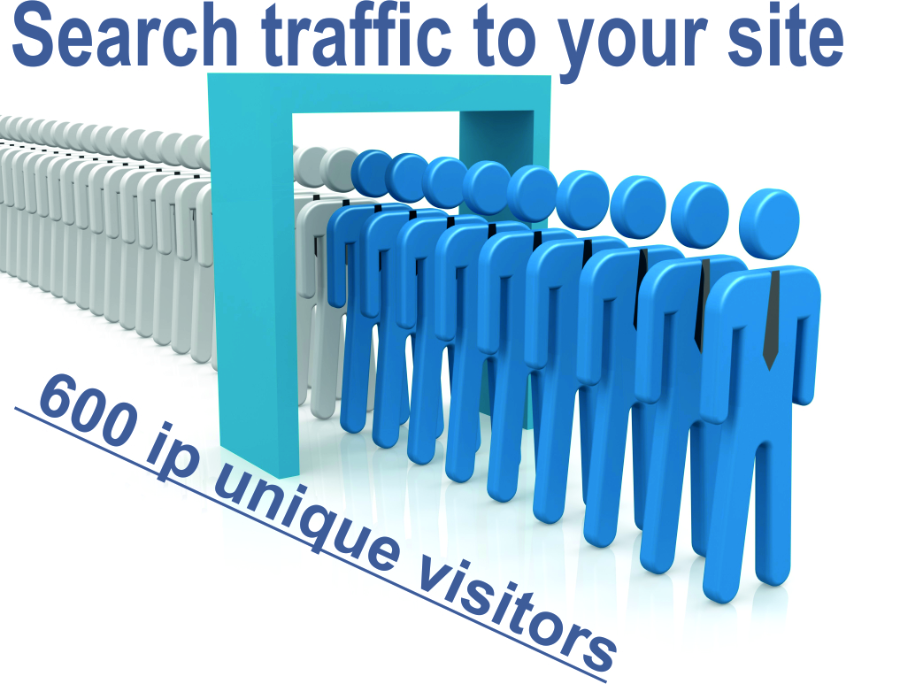 Search traffic to your site 600 ip unique visitors