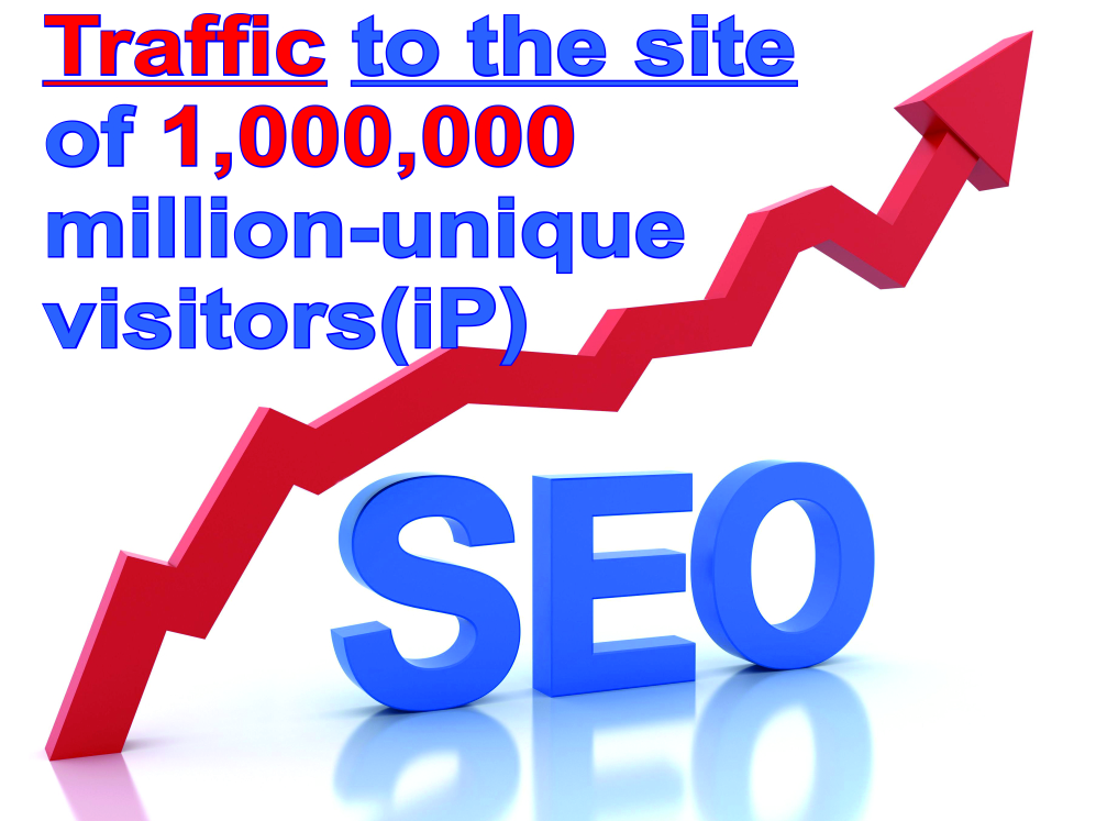 Traffic to the site of 1,000,000 million unique visitors ip