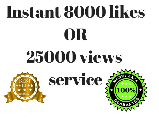 Super fast Instant Real 8000 love Or 25000 Vieee on your post Social Media Ranking