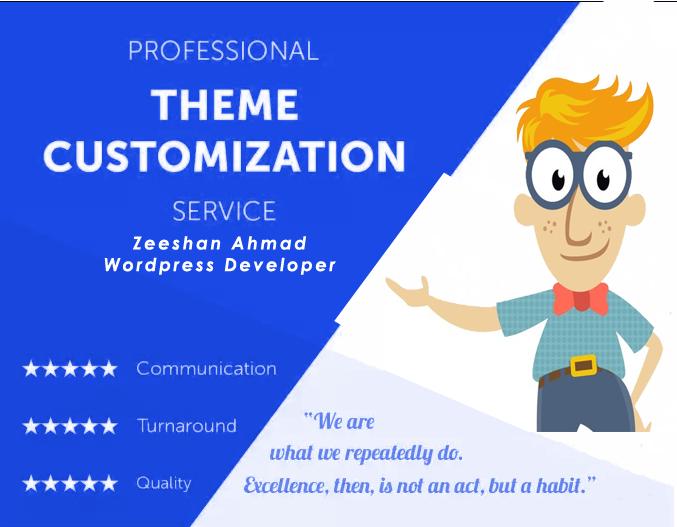 Do Customize your Wordpress website theme