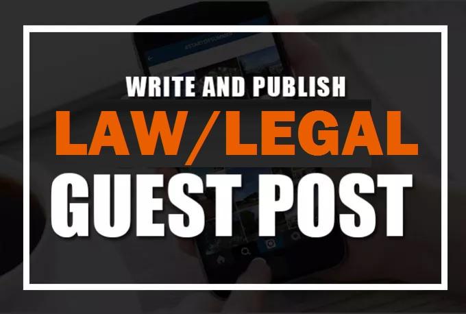 Publish Guest Blog Poost DA 43 Legal Niche
