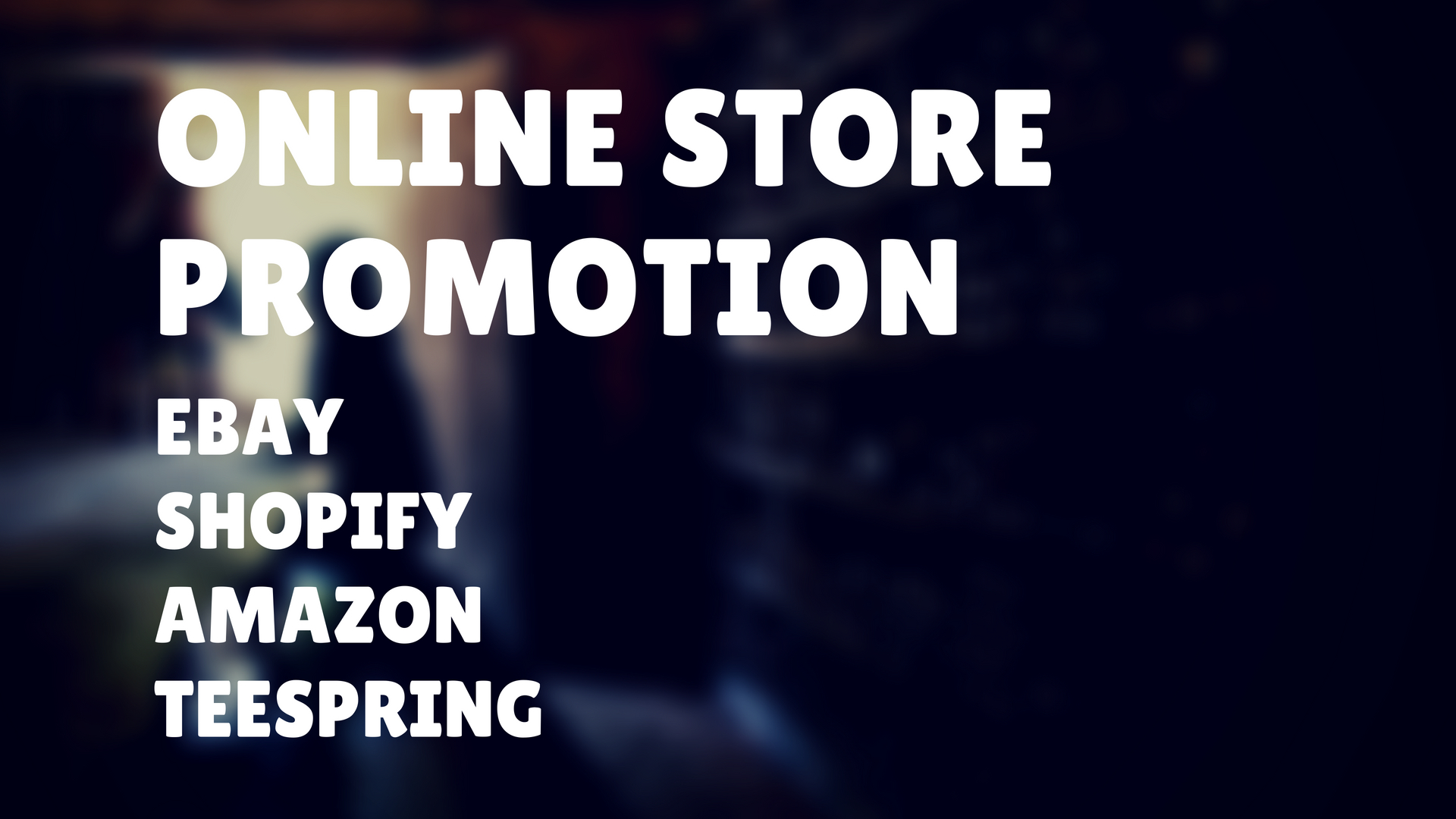 Seo Promotion Of Amazon,  Shopify,  Ebay And Teespring
