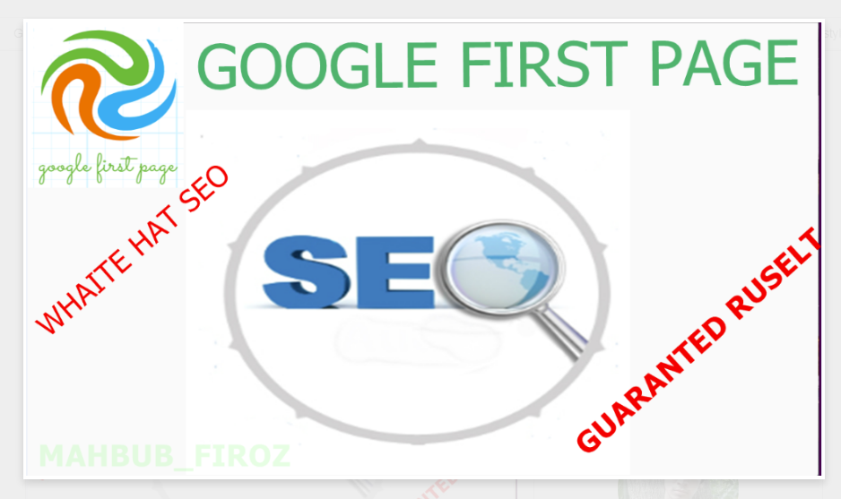 I Will Boost Guaranteed Google First Page Ranking Service