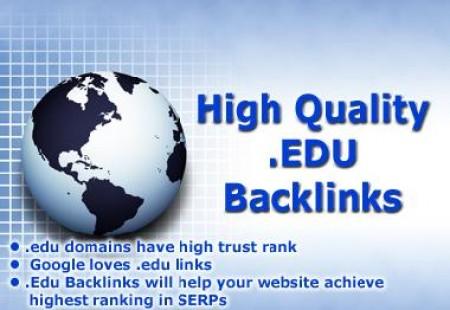 I will do 400 HQ. EDU PR10 to PR6 Backlinks