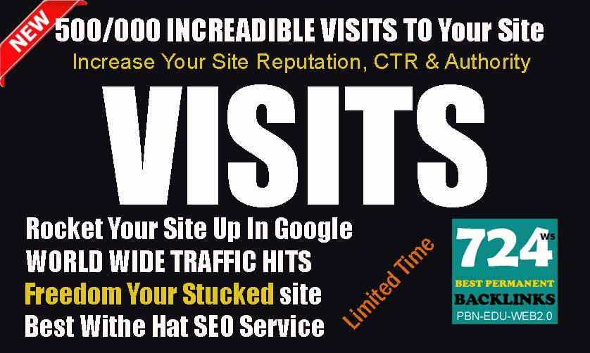 Get 500/000 Real Worldwide Traffic Visits To Improve Google and Alexa Rank