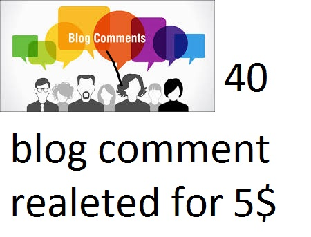 40-45 high quality blog comment realeted