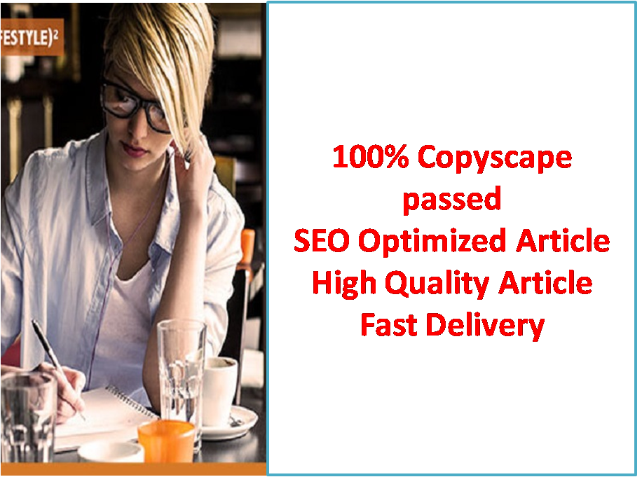 SEO Friendly Optimized Article writing, Blog writing, Content writing