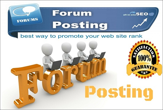 Provide Niche Relevant High Quality 10 Forum Posting
