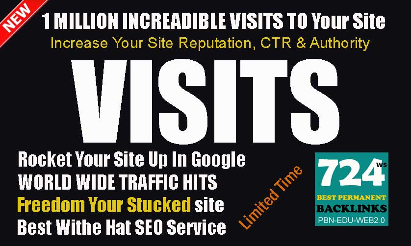 Send 1 Million Worldwide Traffic Visitors To Your Site Safe And Low Bounce Rate