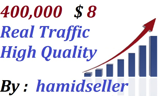 Real +400,000 WorldWide Website Traffic Visitors To your Non Drop And Very High Qulity And Unlimited Traffic Site Adsence Safe and Genuine Just