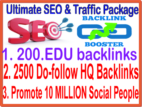 SEO & SMM Top Campaign - 200. EDU Backlinks- 10 Million Social Promotion-2500 Do Follow Backlinks