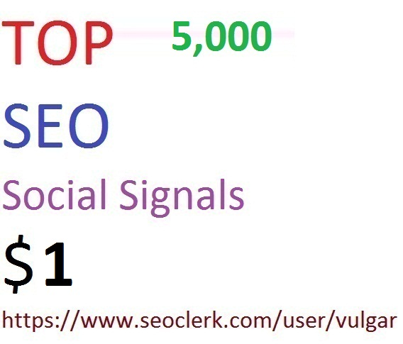 5,000 Social Signals From Top 4 Social Media Websites Increase Your SEO Ranking