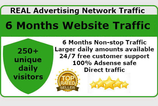 Get UNLIMITED Real Advertising Network Website Traffic for 6 Months